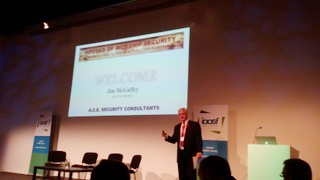 Jim McGuffey presenting at ASIS